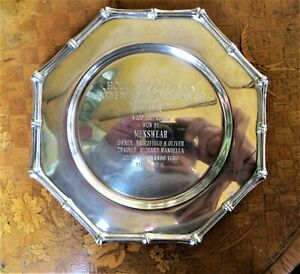 Tiffany & Co Sterling Silver Bamboo Trophy Plate