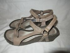 """Teva Sandals Womens Size 10 Cabrillo 1002882  Leather 2"""" Wedge Ankle Strap"""