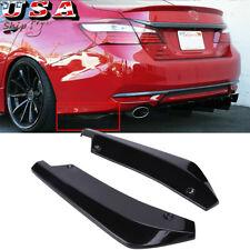 For Honda Accord Rear Bumper Corner Lip Splitter Diffuser Body Kit Gloss Black Fits 2008 Honda Accord