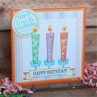 Birthday Candle Metal Cutting Dies Embossing Die Cut Making Stencil Template diy