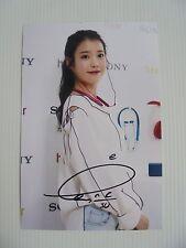 IU Lee Ji Eun KPOP Korean Actress 4x6 Photo Autograph hand signed USA Seller V