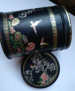Beautiful Asian Round Tin Tea Box