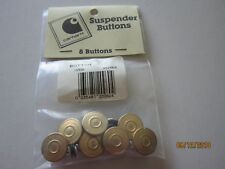 NEW  Carhartt USA Brass Suspender Buttons package of 8 NEW Vintage w instruction