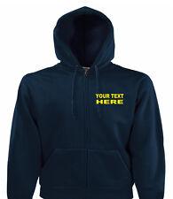 Personalised Custom Printed Zip Up Hoodies, Quality Work Wear, Small - XXL