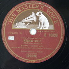 78rpm EDDY FISHER wedding bells / a man chases a girl