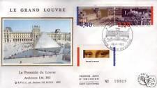 2852A+ FDC ENVELOPPE 1er JOUR SOIE MUSEE DU LOUVRE