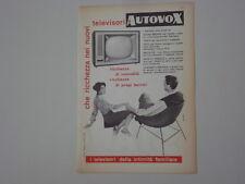 advertising Pubblicità 1959 TELEVISORI AUTOVOX