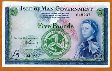 Isle of Man, 5 pounds, ND (1961), P-26 (26a), XF+ > Scarce