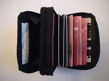 Titolare carta di credito / wallet / purse.soft cuoio, chiusura con cerniera Rotondo concertina.brand new.sale
