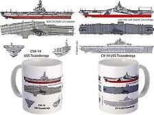 USS Ticonderoga (CV-14 CVA-14) Coffee Mug