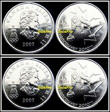 2x CANADA 2007 CANADIAN VANCOUVER OLYMPIC QUARTER QUEEN CURLING 25 CENT COIN LOT