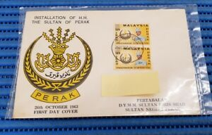 1963 Malaysia First Day Cover Installation of Sultan Idris Shah Sultan of Perak
