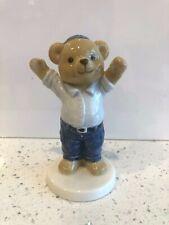 B&G Bing Grondahl 2005 Victor Porcelain Teddy Bear Figurine EUC Train Conductor