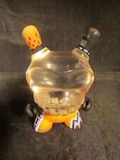 """Custom 3"""" Kidrobot Agent K Dunny by Rsin Clear Resin Head 1/1 Rare Exclusive Org"""
