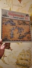 550 Piece Jigsaw Puzzle MAP SHOWING THE Shipwrecks OF THE GREAT LAKES New Sealed