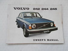 Volvo 242 244 245 Owner's Manual - 82 page Booklet Undated