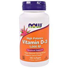 Vitamina D-3 - 180 - 1000iu Alta Potenza Capsule morbide di Now Foods