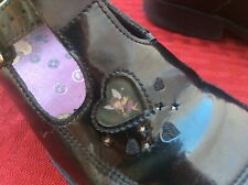Clarks Shoefairies 9.5 F  girls school shoes black patent leather