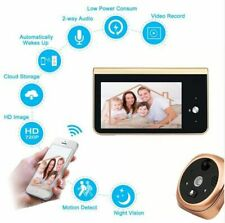 Video Intercom Wireless WiFi Doorbell 4.3 Inch Monitor Camera Peephole Door Bell