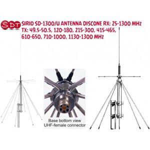 Sirio Sd-1300/U Antenne Discone Rx:25-1300 MHZ Tx : 49.5-50.5,120-180,215-300