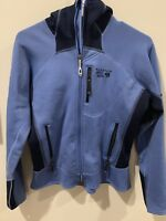 Mountain Hardwear Solidus Women's Jacket Hoodie soft shell Blue Navy Small S