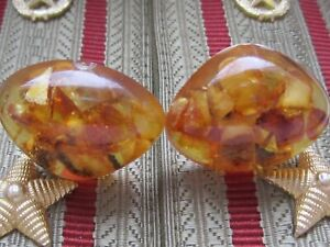 Vintage Cufflinks Amber Jewelry Beautiful Cufflinks USSR