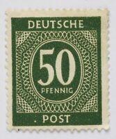 Briefmarke,Bizone 50 Pfennig,Deutsche Post,Ausgabe 1946,Alt aber nicht benutzt