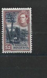BRITISH HONDURAS  1938 - 47  S G 160  $2  BLUE & MAROON  MH  CAT £55