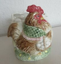 Fitz & Floyd 1987 Bacon & Eggs Rooster, Hen Small Planter