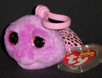 TY BEANIE BOOS BOO'S - SLOWPOKE the TURTLE KEY CLIP - MINT with MINT TAGS