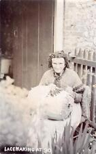 More details for lace making lace worker at 90 rp old pc used 1911 watlington oxfordshire