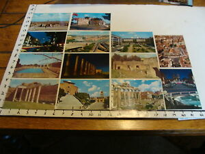 13 VARIOUS UNUSED POSTCARDS FROM ROME, ITALY 1966