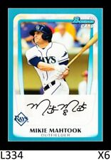 1-2011 BOWMAN DRAFT BLUE PARALLEL MIKIE MAHTOOK TIGERS /499 CARD#BDP54 QTY
