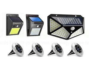 Solar Powered PIR Motion Sensor Wall Lights Outdoor Garden Lamp Security LED SMD