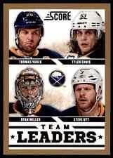 2013-14 Score Gold Ryan Miller Steve Ott Thomas Vanek Tyler Ennis #553
