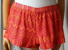 MISSONI MARE ORANGE LUREX ZIGZAG SHORTS IT 40 UK 8