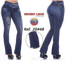 Secret Love Women's Jeans 20448DPAC-N Butt Lifting Destroyed Bootcut US Sz 11