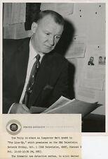 TOM TULLY INSPECTOR MATT GREBB PORTRAIT THE LINE-UP ORIGINAL 1957 CBS TV PHOTO