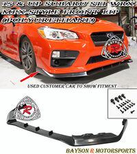 MPX-Style Front Lip (Urethane) Fits 15-17 Subaru WRX STi