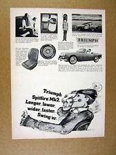 1966 Triumph Spitfire Mk2 car photo vintage print Ad