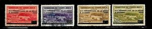 HICK GIRL- USED COSTA RICA STAMPS    1940  OVERPRINT ISSUES      D772