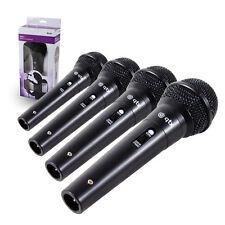 4 X DM11 Micrófono Dinámico Karaoke PA Grabación DJ Mike con Cable de 3 metros