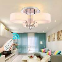 3 Way Modern Round LED Crystal Ceiling Lights Chandelier Kitchen Living/Bed Room