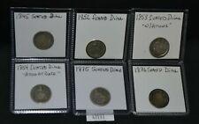 WPC ~ 6 Seated Dimes - 1845 1852 1853 w Arrows 1854 Arrow at Date 1875 1876