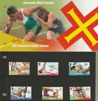 Guernsey Mint Stamps 23.9.10 presentation pack 40 YEARS COMMONWEALTH GAMES