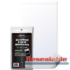 2 Packs 200 BCW Resealable Graded Slab Card Storage Sleeves Holders