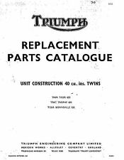 Triumph Parts Manual 1970 TR6R TIGER 650, TR6C TROPHY 650 & T120R BONNEVILLE 120
