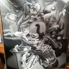 "Vintage Looney Tunes Band Original Cartoon Framed Poster  #82938 -  16"" x 20"""