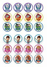 24 Paw Patrol Wafer / Rice Paper Cupcake Topper Edible Fairy Cake Bun Toppers