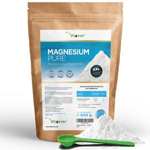 MAGNESIUM PURE 600g Magnesium Citrat Pulver ohne Zusatzstoffe Laborgeprüft